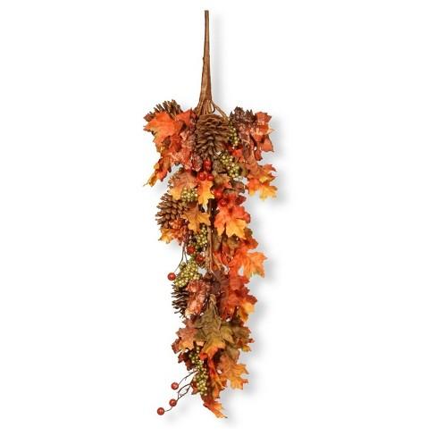 "35"" Maple Teardrop with Pumpkins - National Tree Company - image 1 of 1"