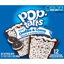 Pop-Tarts Frosted Cookies & Crème Pastries - 12ct/20.31oz - Kellogg's
