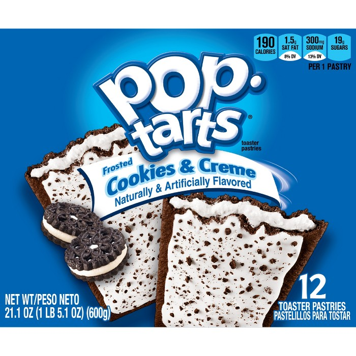 Pop-Tarts Frosted Cookies & Crème Pastries - 12ct/21.1oz - Kellogg's - image 1 of 9