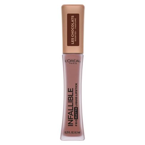 L'Oral Paris Infallible Pro Matte Les Chocolates Scented Lipstick Box O Chocolate - 0.21 fl oz - image 1 of 4