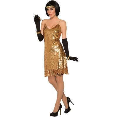 Forum Novelties Gold Sequin Disco Dress Adult Costume