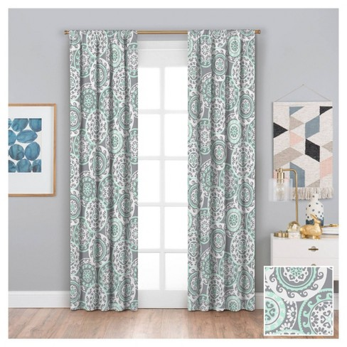 """42""""x 63"""" Suzi Thermaback Blackout Curtain Panels Gray - Eclipse My Scene - image 1 of 3"""