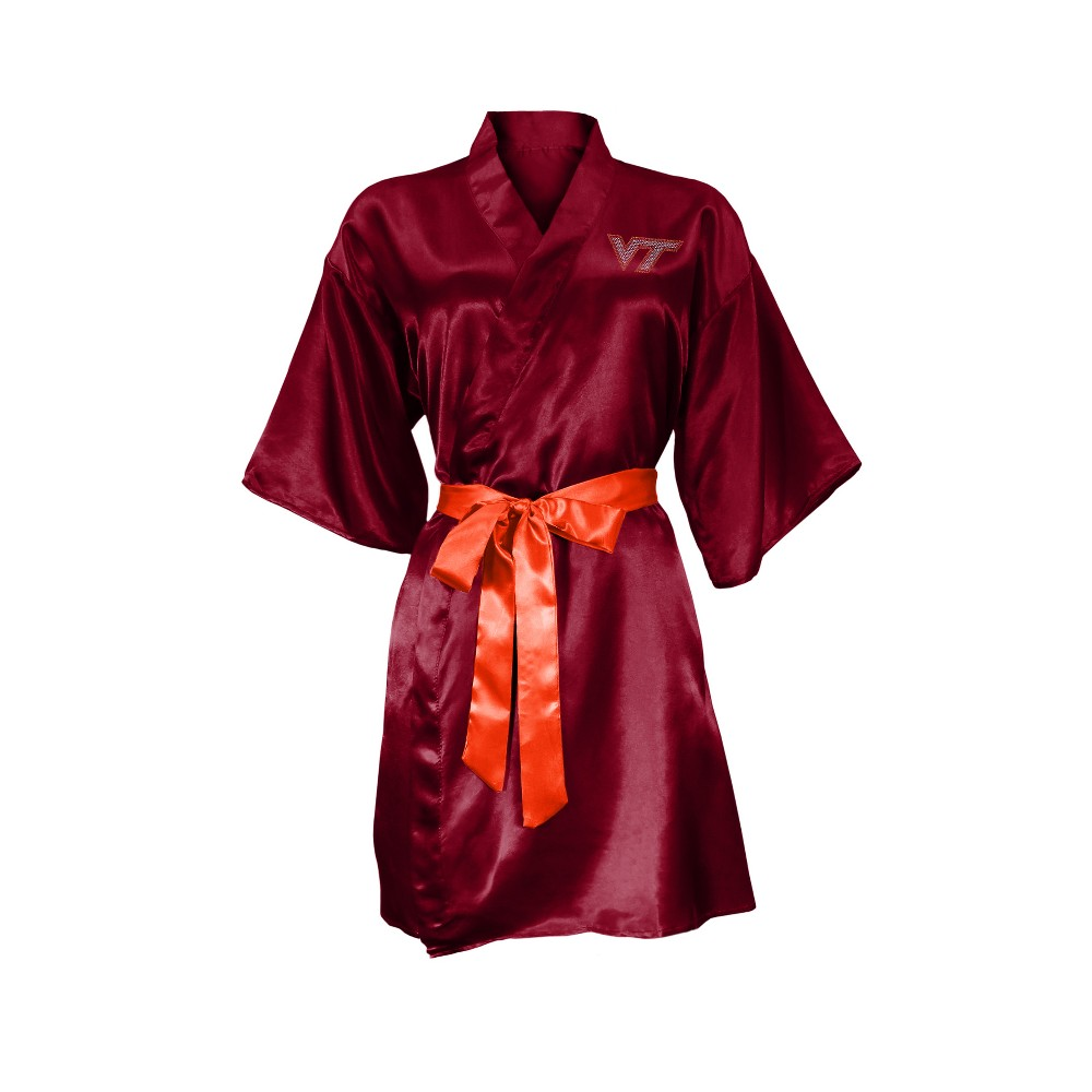 NCAA Virginia Tech Hokies Little Earth Satin Kimono - L/XL
