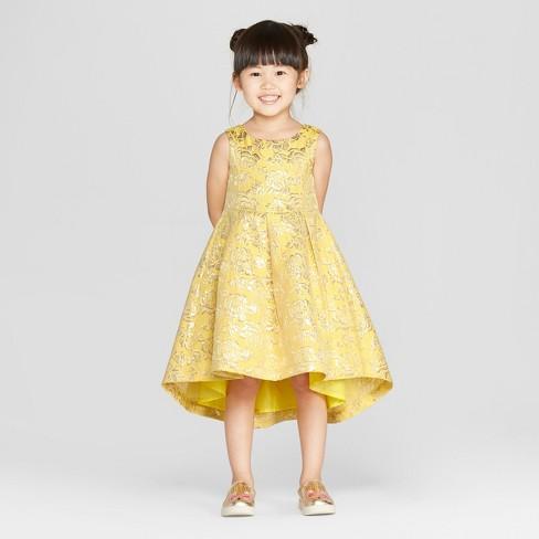 7554a83410d Toddler Girls  Disney Princess Belle Dress - Yellow   Target