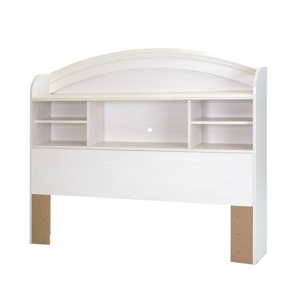 Image of Full Country Poetry Bookcase Headboard White Wash - South Shore