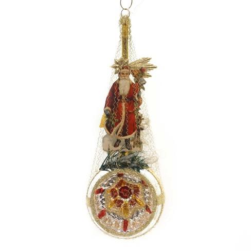 Bethany Lowe Christmas Ornaments.Bethany Lowe 8 0 Victorian Santa Scrap Ornament Vintage Handmade