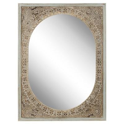 "48"" x 36"" Rustic Rectangular Framed Wall Mirror - Olivia & May"