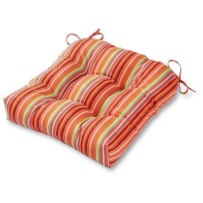 Coastal Stripe Outdoor Seat Cushion - Kensington Garden