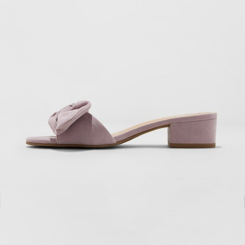351e06e8505e Women s Hyleta Knotted Bow Heeled Mules - A New Day™ Lavender   Target