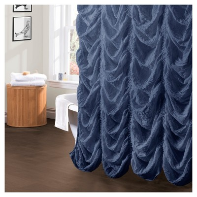 Madelynn Jean Ruffle Shower Curtain - Lush Decor®