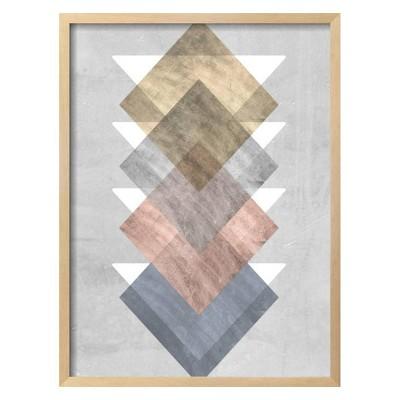Diamond Allign I By Jennifer Goldberger Framed Wall Art Poster Print 21 x28  - Art.com