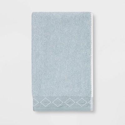 Diamond Band Terry Hand Towel Aqua - Threshold™