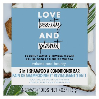 Love Beauty And Planet Coconut Water Shampoo + Conditioner Bar : Target