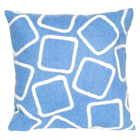 Blue Squares Indoor Outdoor Throw Pillow 20 X20 Liora Manne