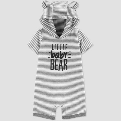 Baby Boys' Family Love 1pc 'Little Baby Bear' Romper - Just One You® made by carter's Gray 9M