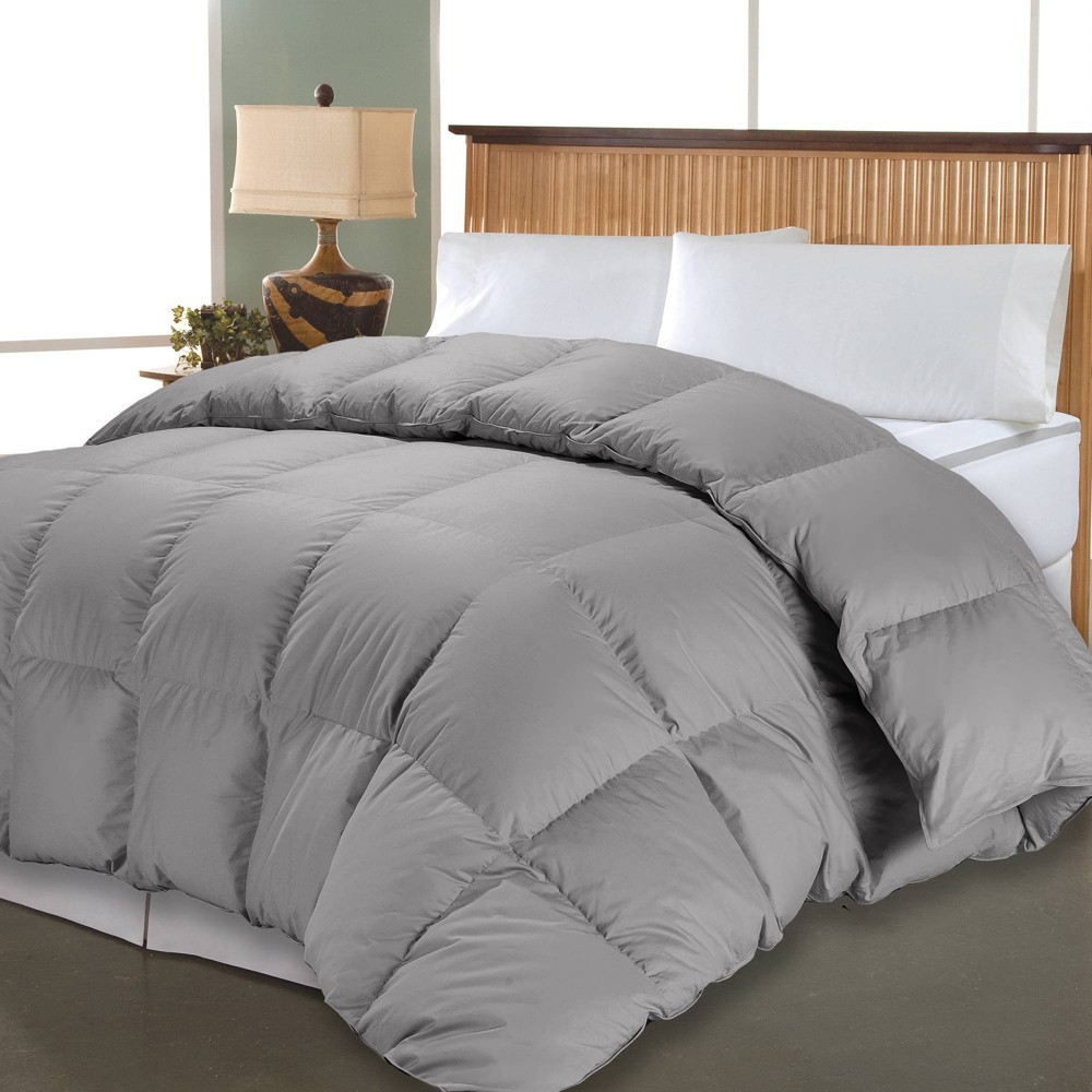 Image of Full/Queen 1000 Thread Count PIMA Cotton Down Alternative Comforter Gray - Blue Ridge Home Fashions