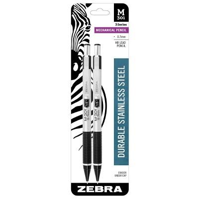 Zebra 2pk #2 Mechanical Pencil White