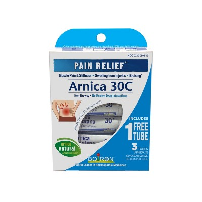 Boiron Arnica 30C Homeopathic Pain Relief Quick-Dissolving Pellets - Arnica Montana - 80ct