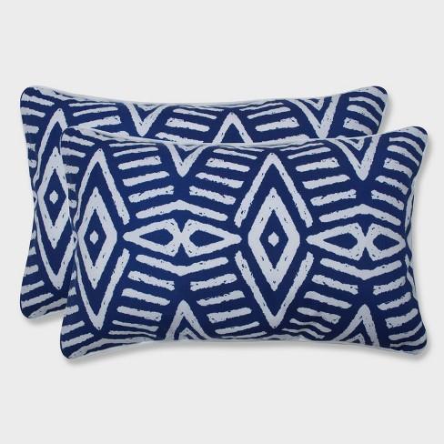 2pk Geometric Dimensions Rectangular Throw Pillows Blue Pillow Perfect Target