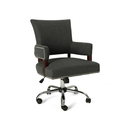 Bonaparte Traditional Home Office Chair Dark Gray - Christopher Knight Home