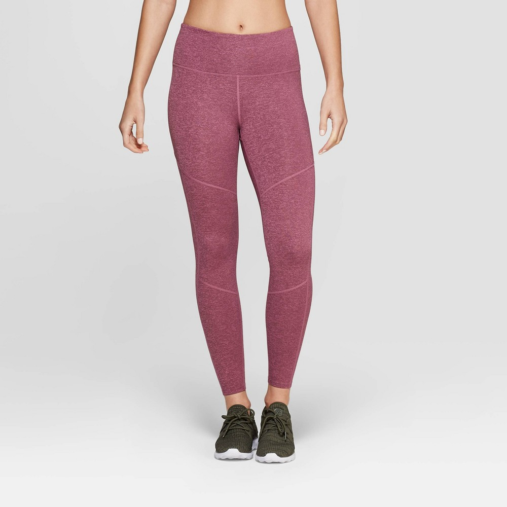 Women's Performance High-Waisted 7/8 Mini Striped Leggings - JoyLab Grape Purple M