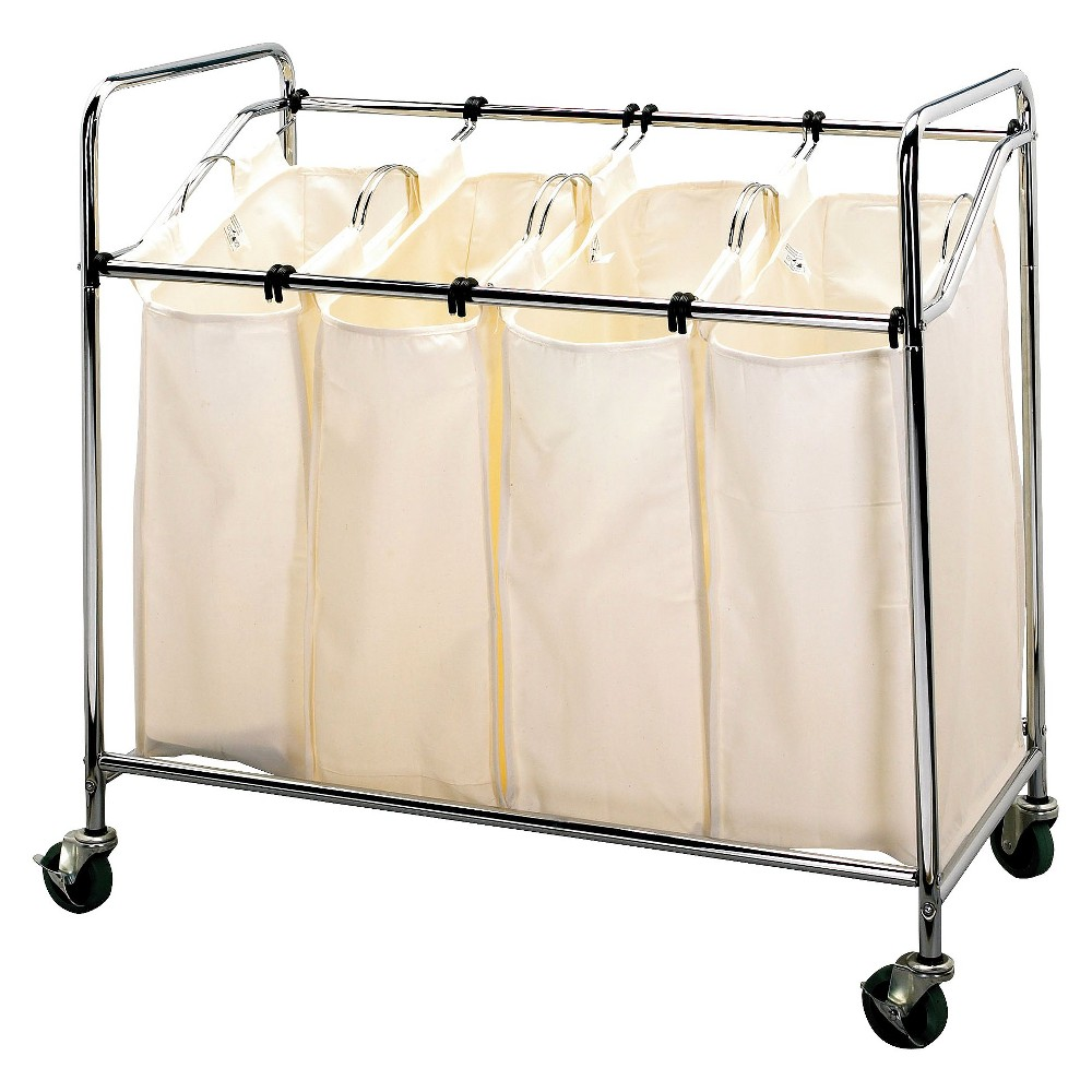 Image of Household Essentials 4-Compartment Laundry Sorter