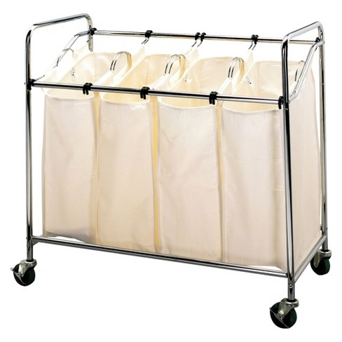 Household Essentials 4 Compartment Laundry Sorter - image 1 of 3