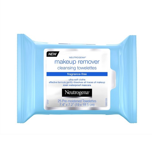Neutrogena Fragrance-Free Makeup Remover Cleansing Wipes - 25ct - image 1 of 4