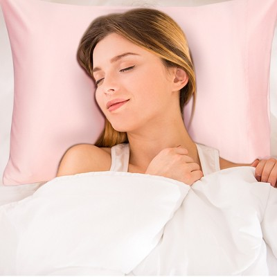 """1 Pc 20"""" x 26"""" Silk for Facial Beauty and Hair with Envelope Closure Pillow Case Pink - PiccoCasa"""