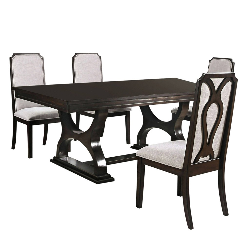 Discounts 5pc Yorktown Dining Set Dark Brown - HOMES: Inside + Out
