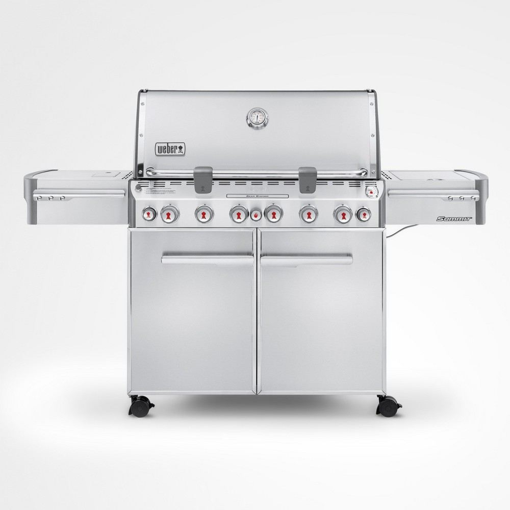 Weber Summit S-670 LP Gas Grill, Silver 14998380