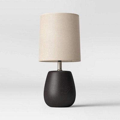 Polyresin Wood LED Accent Lamp Black (Includes Energy Efficient Light Bulb)- Threshold™