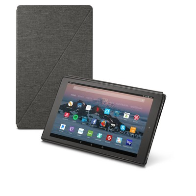 Amazon Fire HD 10 Tablet Case (7th Generation, 2017 Release)- Charcoal Black