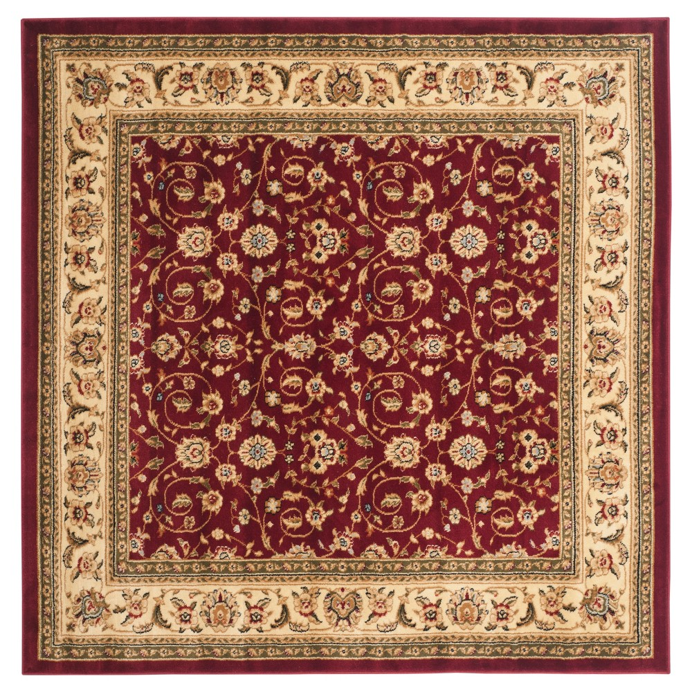 8'X8' Holly Area Rug Red/Ivory - Safavieh