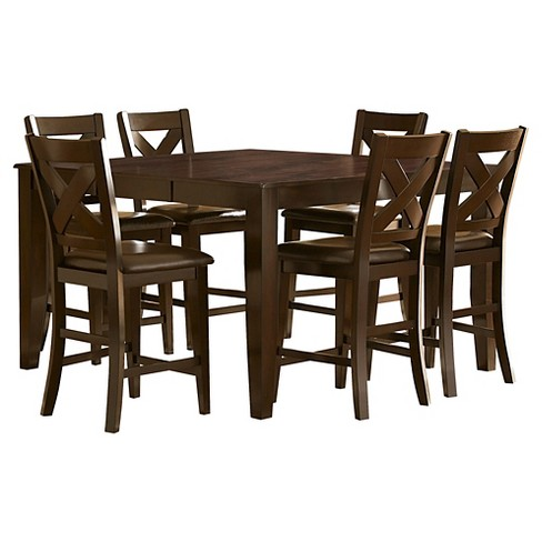 7pc Murdock Counter Height Dining Set - Deep Red - Inspire Q - image 1 of 3