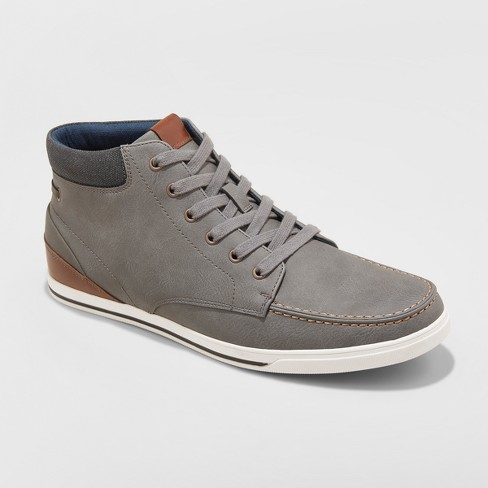 Men's Gerald Mid Top Casual Sneakers - Goodfellow & Co™ Grey - image 1 of 3