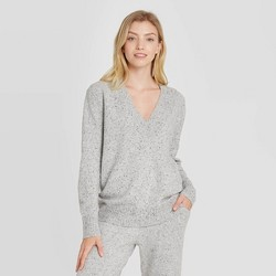 Women's Lounge V-Neck Pullover Sweater - Stars Above™