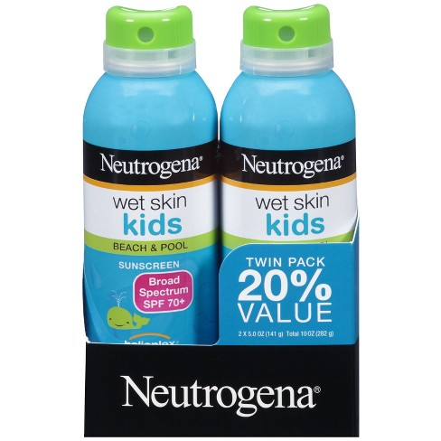 Neutrogena Kids Oil Free Water Resistant Sunscreen Spray Pack - SPF 70 - 5 oz - image 1 of 4
