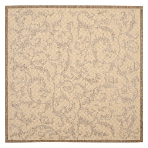 Jassy Square 7 10 Quot X 7 10 Quot Outer Patio Rug Natural