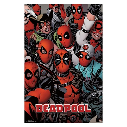 "Deadpool Faces Unframed Wall Poster Print 34"" x 22"" - Trends International - image 1 of 2"