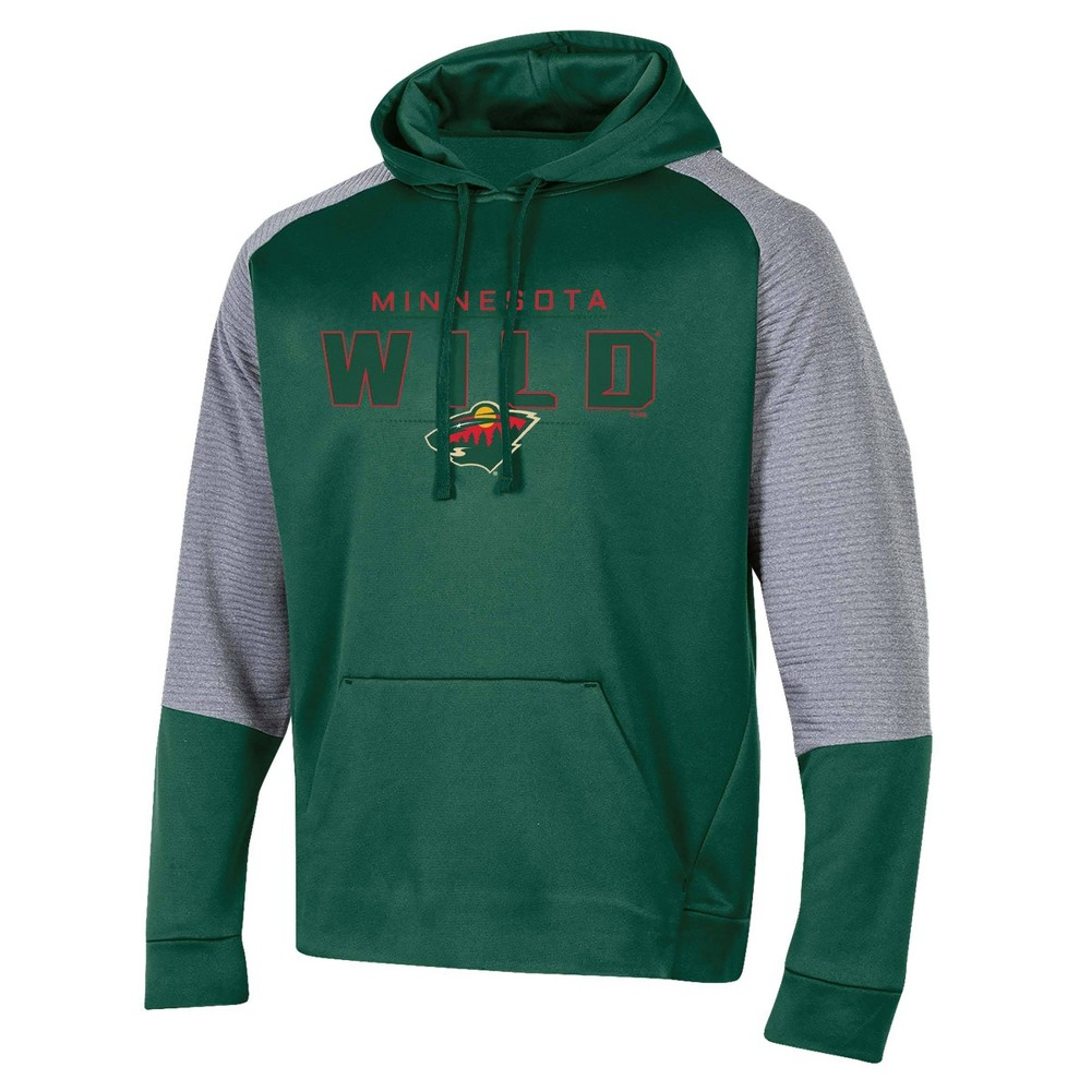 Nhl Minnesota Wild Men 39 S Edge Poly Textured Hoodie Gray M