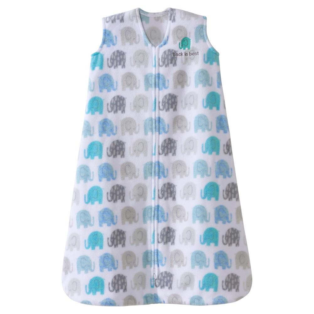 Halo SleepSack Micro-Fleece Wearable Blanket - Blue/Gray Elephant - L, Infant Unisex, Pink Blue