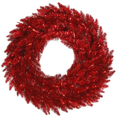 Vickerman Tinsel Red Artificial Christmas Wreath