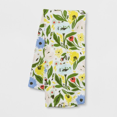 28 x18  Floral Flat Weave Kitchen Towel - Opalhouse™