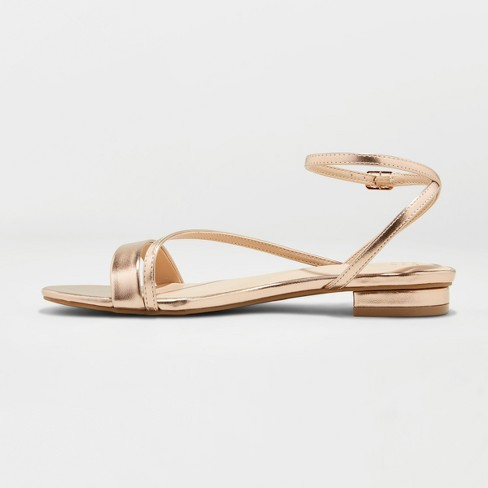 ad21d3e57267d3 Women s Isma Barely There Ankle Strap Sandals - A New Day™   Target