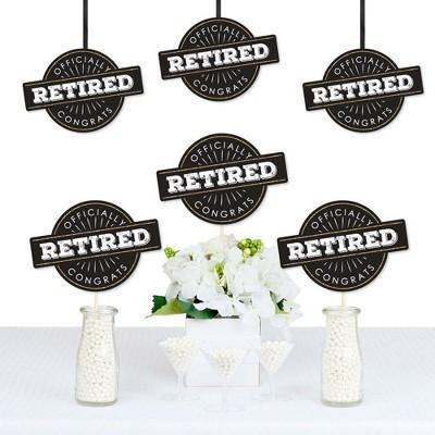 Big Dot of Happiness Happy Retirement - Decorations DIY Retirement Party Essentials - Set of 20