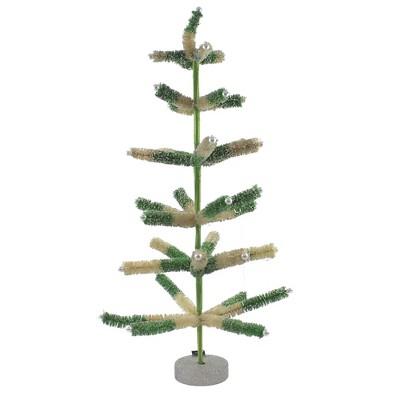 "Christmas 26.5"" Green/White Sisal Tree Christmas Ornament  -  Decorative Figurines"