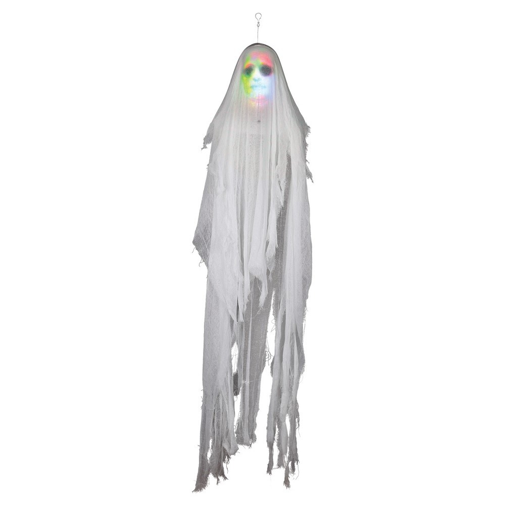 "Image of ""10"""" Halloween Lightshow Hanging Phantom Ghost, White"""