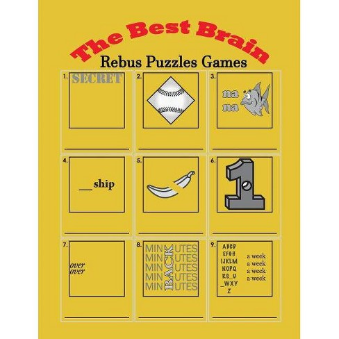 The Best Brain Rebus Puzzles Games - by Penny Higueros (Paperback)