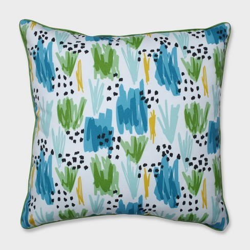 """25"""" Flicker Seaglass Floor Pillow Blue - Pillow Perfect - image 1 of 2"""